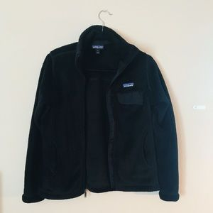 Black Patagonia Zip-Up Fleece